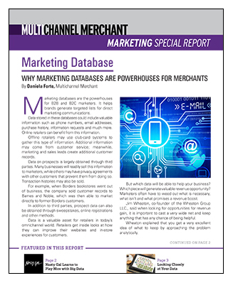 Marketing Database Special Report