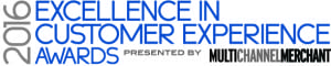 2016 Exellence in Cutomer Experience Award banner