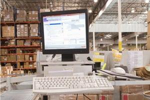 warehouse computer workstation
