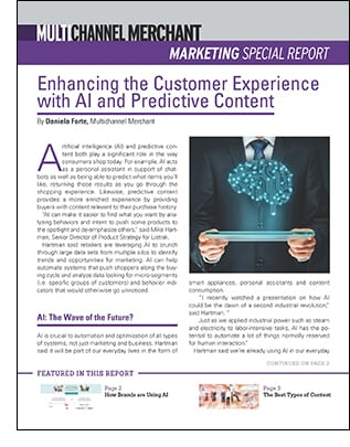 Enhancing the Customer Experience with AI and Predictive Content