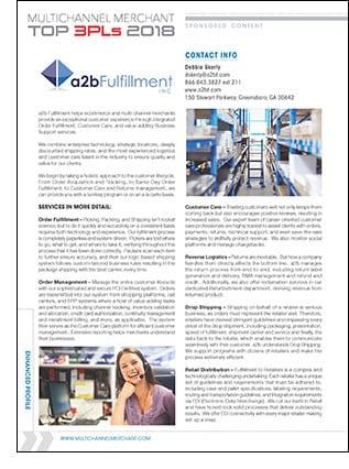 a2b Fulfillment Company Profile