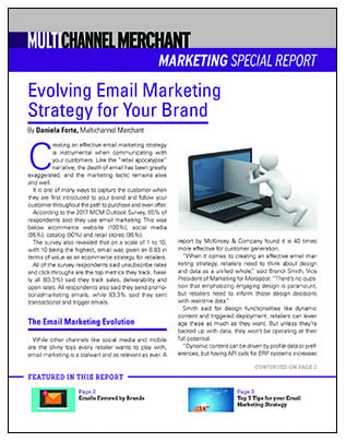 Evolving Email Marketing Special Report