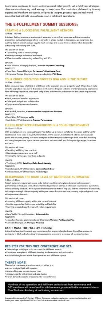 Meeting E-Fullfillment Challenges Virtual Event