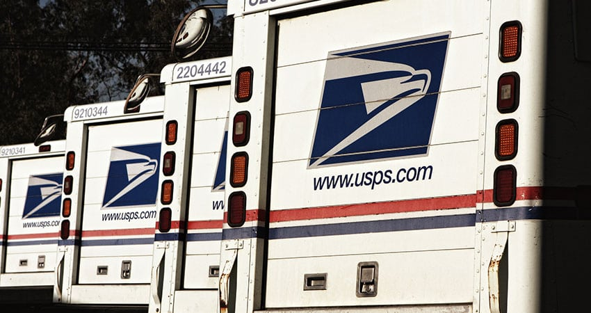 USPS delivery vans