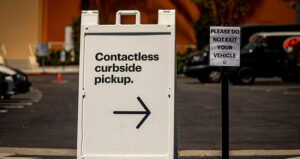curbside pickup sign omnichannel