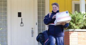 USPS letter carrier
