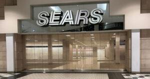 empty Sears in mall