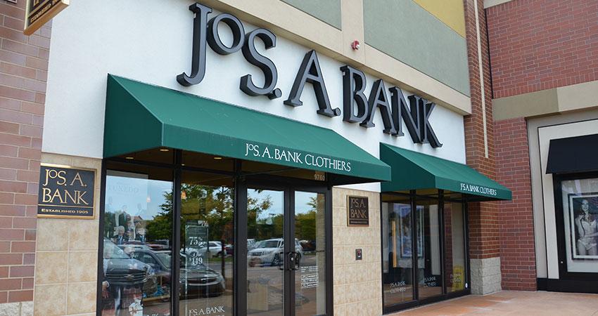 jos a bank exterior feature.