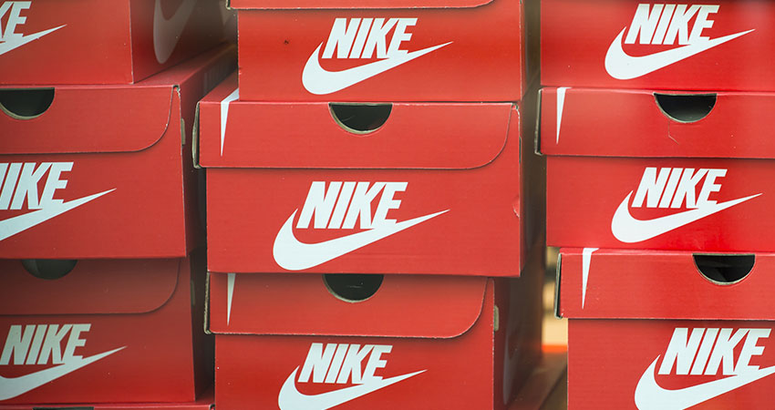 Nike boxes stacked