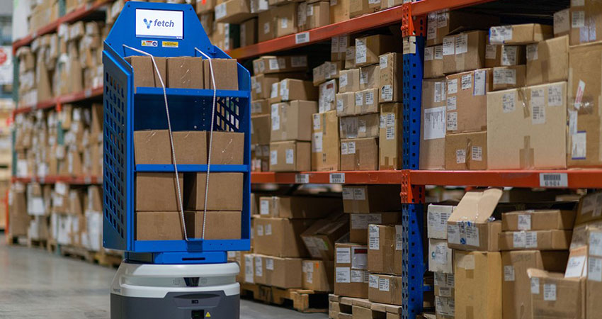 Fetch Robotics in warehouse feature