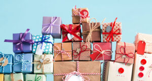 holiday shopping boxes feature