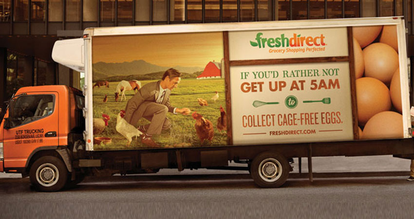 FreshDirect truck feature
