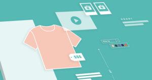 ecommerce mechandising illustration feature