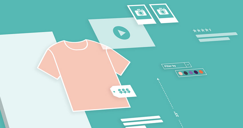 ecommerce mechandising illustration feature