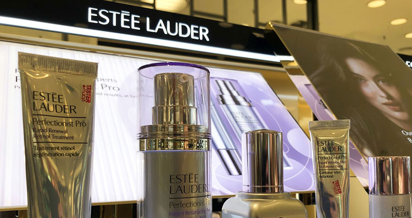 Estee Lauder counter feature