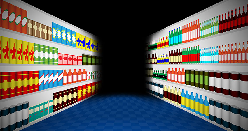 grocery dark stores illustration feature