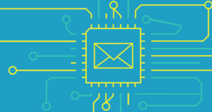 email marketing and AI illustration feature