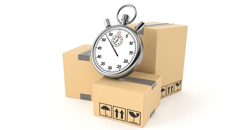shipping delays clock on package feature