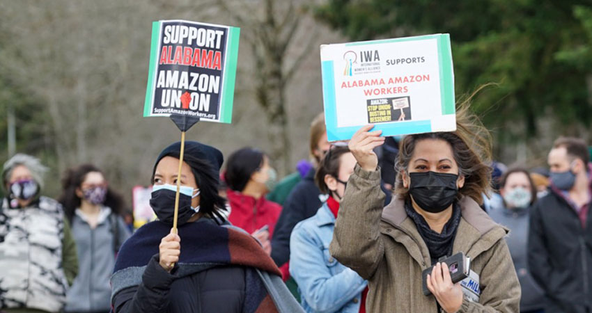 Amazon protesters Seattle feature