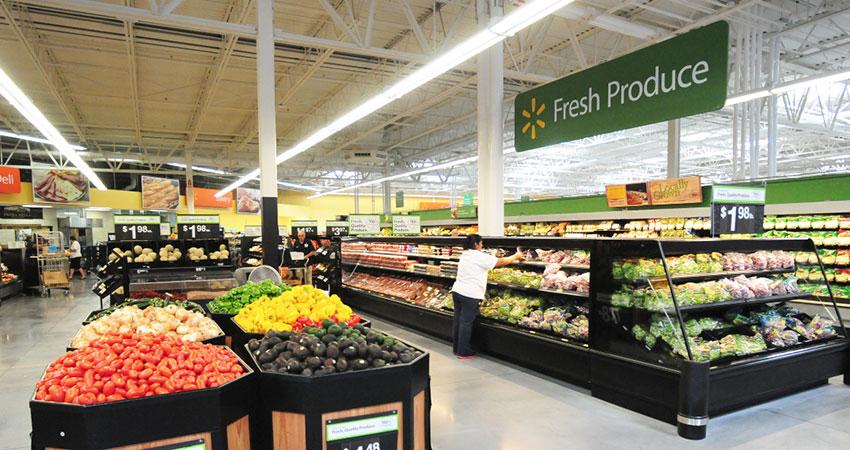 Walmart grocery interior feature