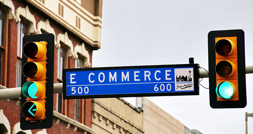 ecommerce brands street sign feature